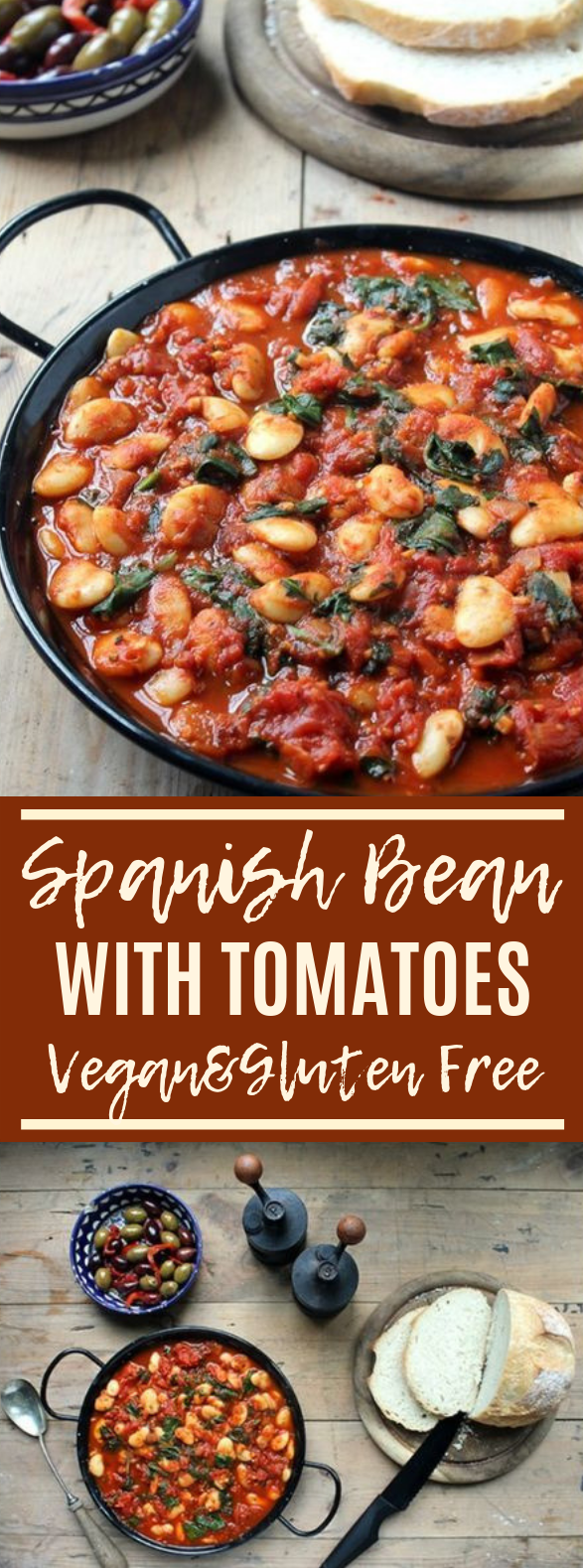Vegan Spanish Beans with Tomatoes #comfortfood #vegetarian