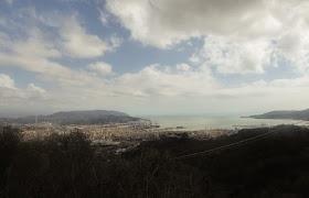 panorama sul golfo della Spezia da sarbia