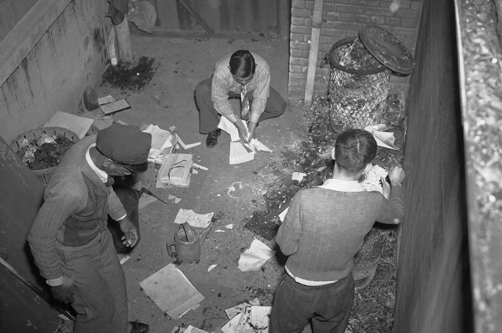 Unidentified attaches of the Japanese consulate began burning papers, ledgers and other records shortly after Japan went to war against the U.S., on December 7, 1941, in New Orleans, Louisiana. Police later stopped the fire after most of the papers had been destroyed.