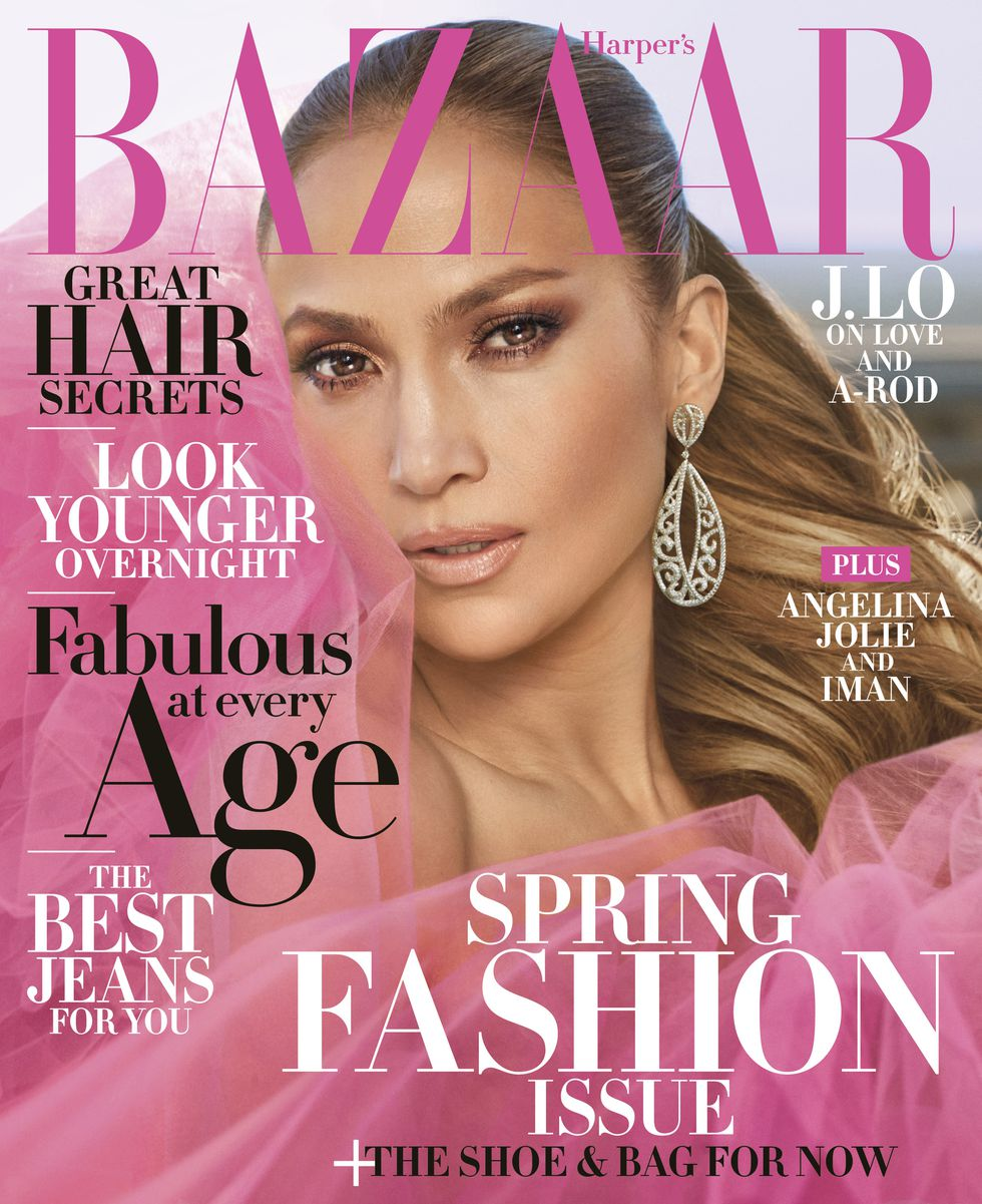 Jennifer Lopez On The April 2018 Cover Of Harper 39 S Bazaar Magazine