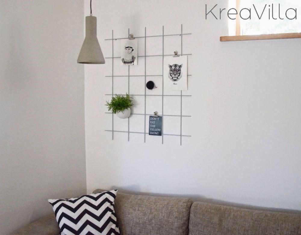 Fabelagtigt Opslagstavle af metalgitter DIY   Kreavilla NS23