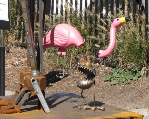 Art Prize 2012 Heavy Metal Rock Band by Fred Conlon flamingo