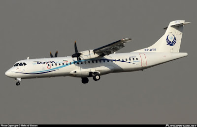 ATR72 accidentado Aseman Airlines