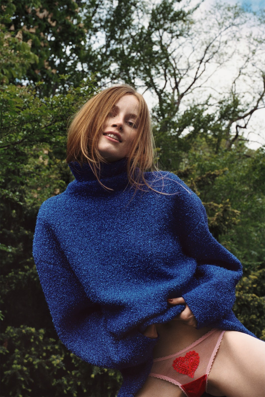 Rianne van Rompaey & Edie Campbell by Cass Bird for Self Service Autumn/Winter 2016