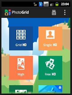 tampilan photo grid versi lama