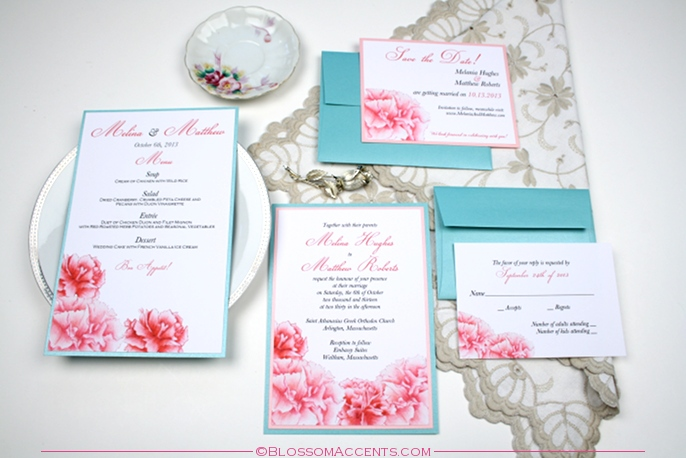 Wedding Invitations Turquoise: Pink-and-turquoise-wedding-invitations Images