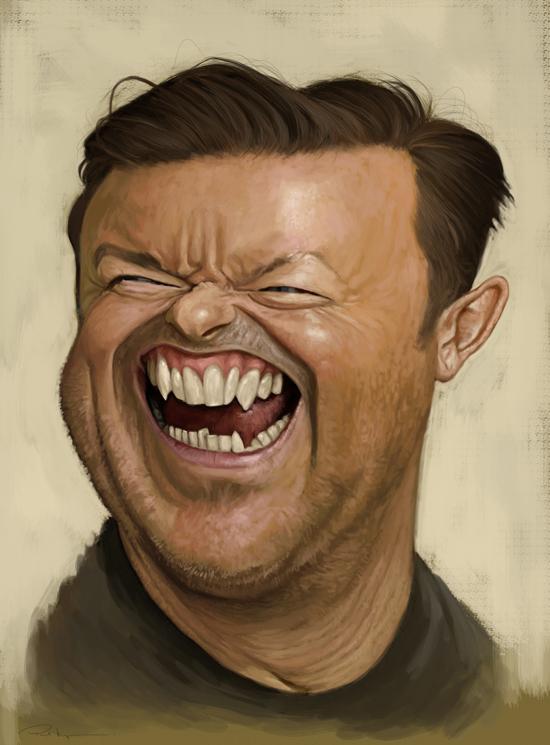Ricky Gervais por Paul Moyse