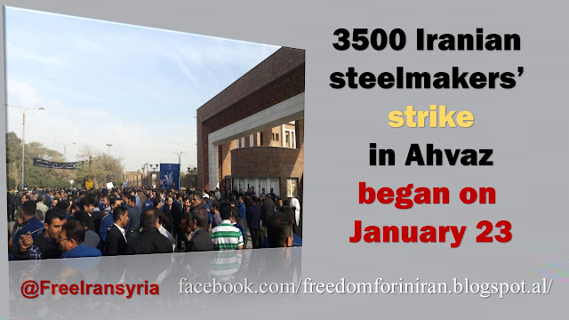 The 3500 Iranian steelmakers' strike in Ahvaz enters its fifth day