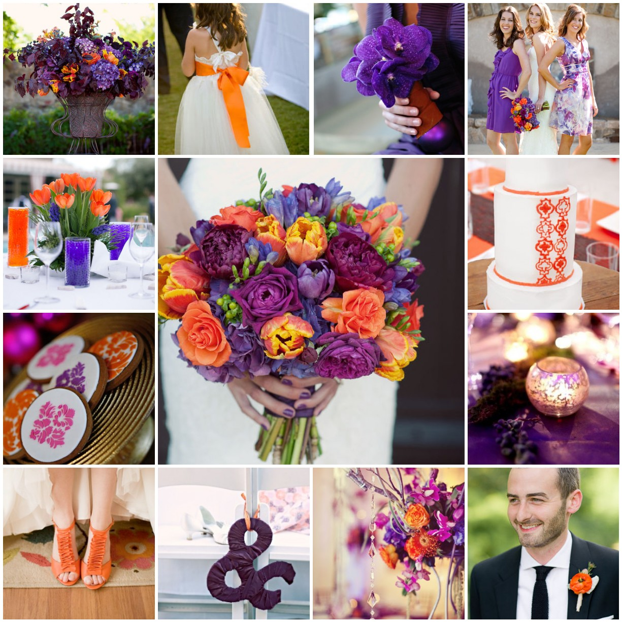 Purple Orange Wedding Ideas: Orange, Purple, & Plum Wedding