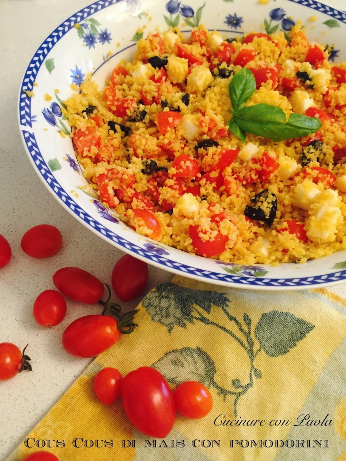 Cucinare con paola cous cous con pomodorini e olive nere - Cucinare olive appena raccolte ...