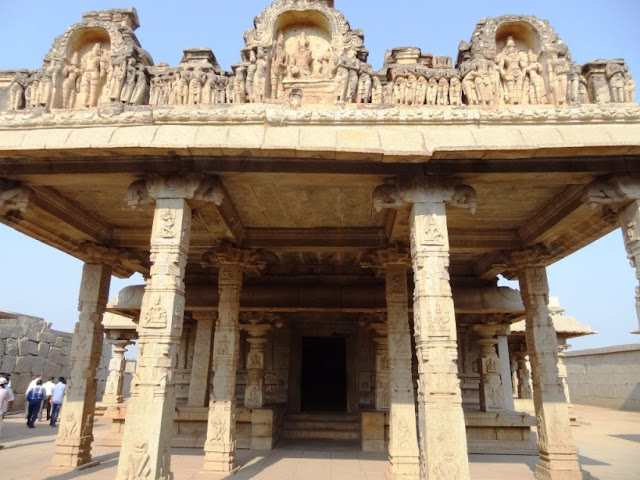 Front view of Hazara Rama temple - Hampi