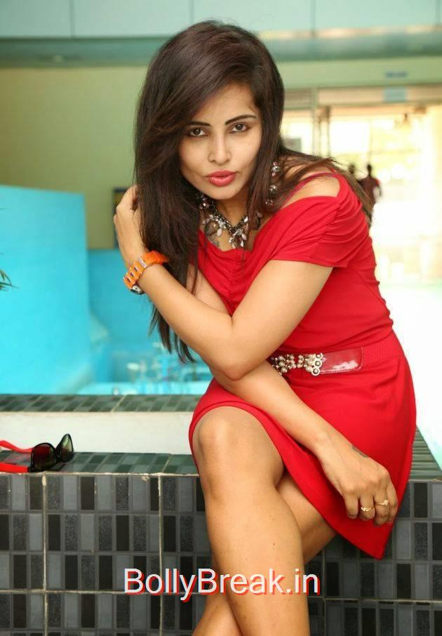 Hashika Dutt Pics in Red Dress, Hashika Dutt Hot Pics from Pochampally IKAT Art Mela Exhibition Launch