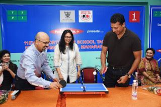 Tennis legend Mahesh Bhupati inaugurates 11 Even Sports Inter-Schools State TT