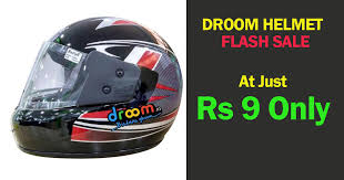 Droom - Get Helmet at Just Rs.9 Only [Live on 18th July]