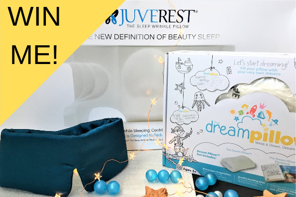 JuveRest sleep wrinkle pillow, sleep master sleep mask, dream pillow giveaway competition