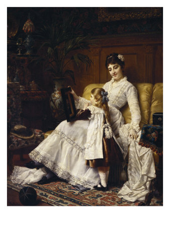 """Mother and Daughter"" by Jan Frederick Portielje"