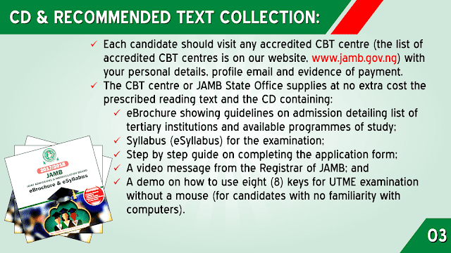 JAMB CD AND RECOMMENDED TEXT COLLECTION
