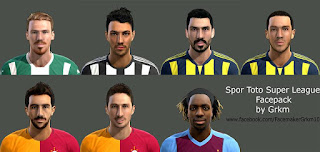 Facepack Spor Toto Super League Pes 2013