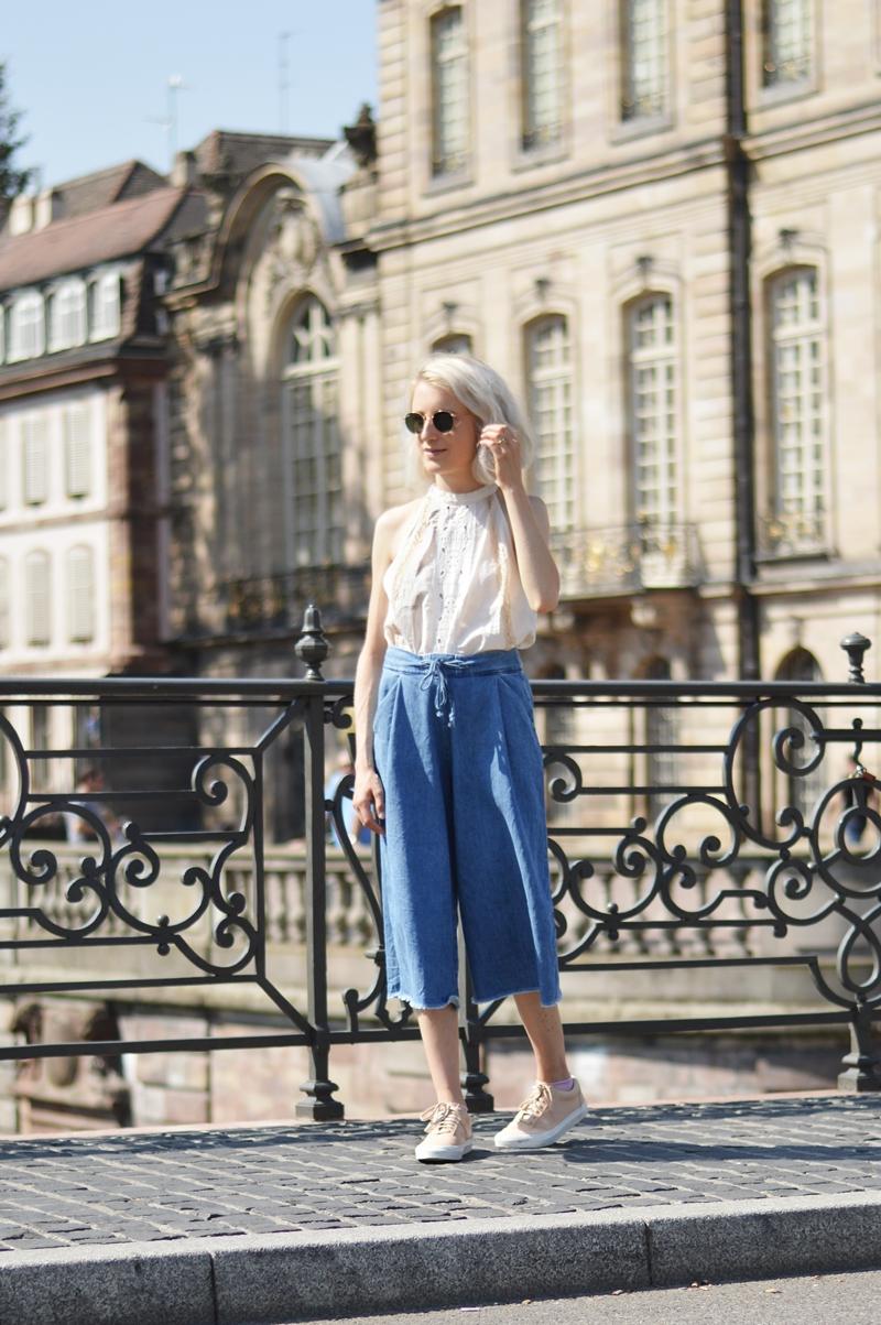 OUTFIT: Denim Culottes & Boho Lace