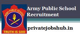 Army Public School Recruitment