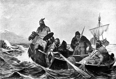 Norsemen Landing in Iceland by Oscar Wergeland