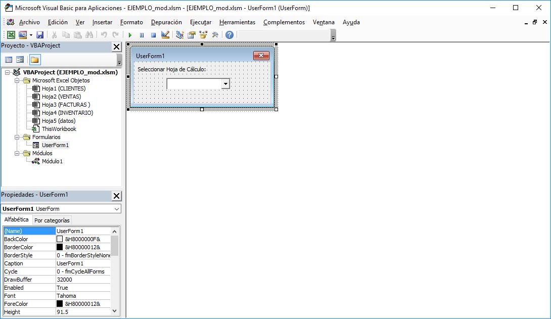 Expandiendo Excel: Seleccionar Hoja de Cálculo desde un UserForm