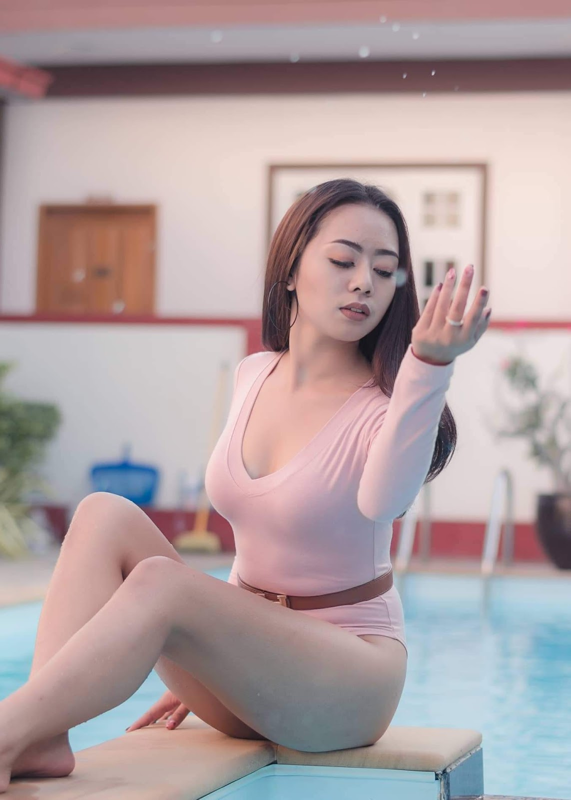 Myanmar Model Yin May Hnin - Swimming Pool Photoshoot
