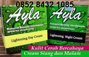 Merk cream ayla malam yang bagus aman BPOM untuk jerawat berminyak mencerahkan wajah