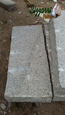 Pedra folheta de granito para degrau de escada de pedra.