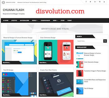 Template Terbaru 2017 Chuana Flash Template Blogger Responsive Download Gratis