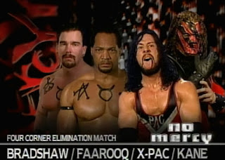 WWE / WWF No Mercy 1999 -  Farooq vs. Bradshaw vs. Kane vs. X-Pac