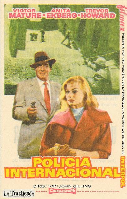 Policia Internacional - Programa de Cine - Victor Mature - Anita Ekberg - Trevor Howard