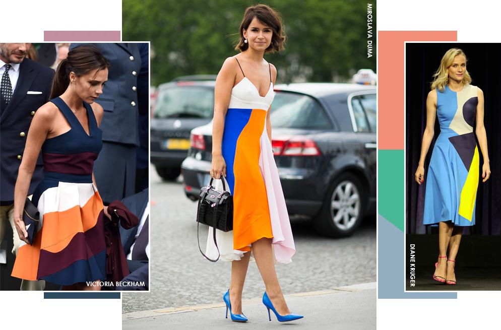 Por qué los vestidos 'color block' también pueden estilizar tu figura