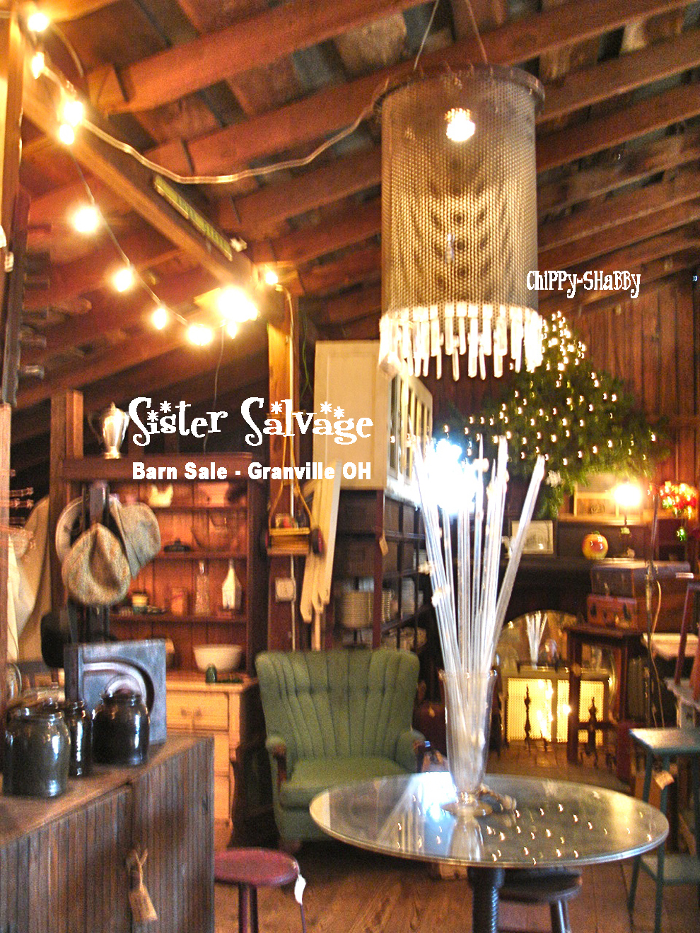 ChiPPy! - SHaBBy!: SISTER SaLVaGE ~ Best Barn SaLe in Granville, Ohio