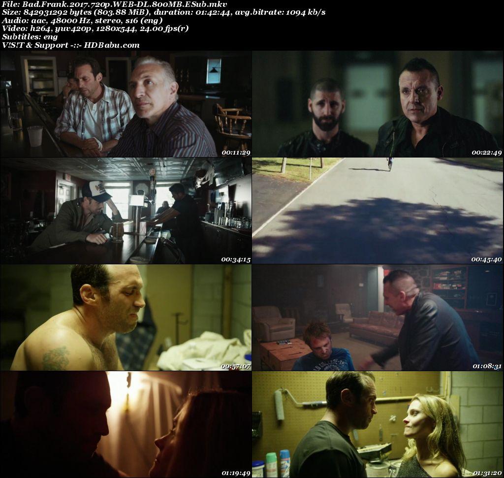 Bad Frank Full Movie Download 720p English HD, Bad Frank (2017) English 720p WEB-DL 800MB ESub