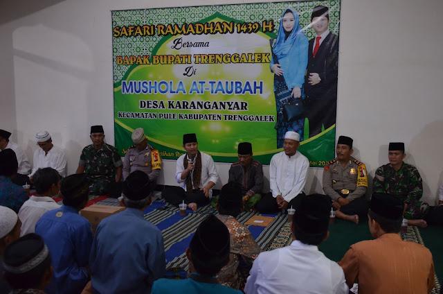 Pemkab Trenggalek  Safari Ramadhan di  Desa Karanganyar  dan Desa Botoputih  di hari ke empat jadwal kunjungan Safarai Ramadhan 1439 H