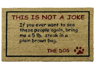 Bring a 5lbs. Steak Dog Door Mat