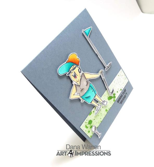 Dana Warren - Kraft Paper Stamps - Art Impressions - Par-Tee Golfers