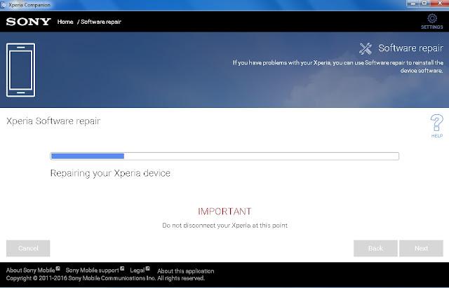 Cara Memperbaiki Software Sony Xperia di Xperia Companion - Blog Mas Hendra