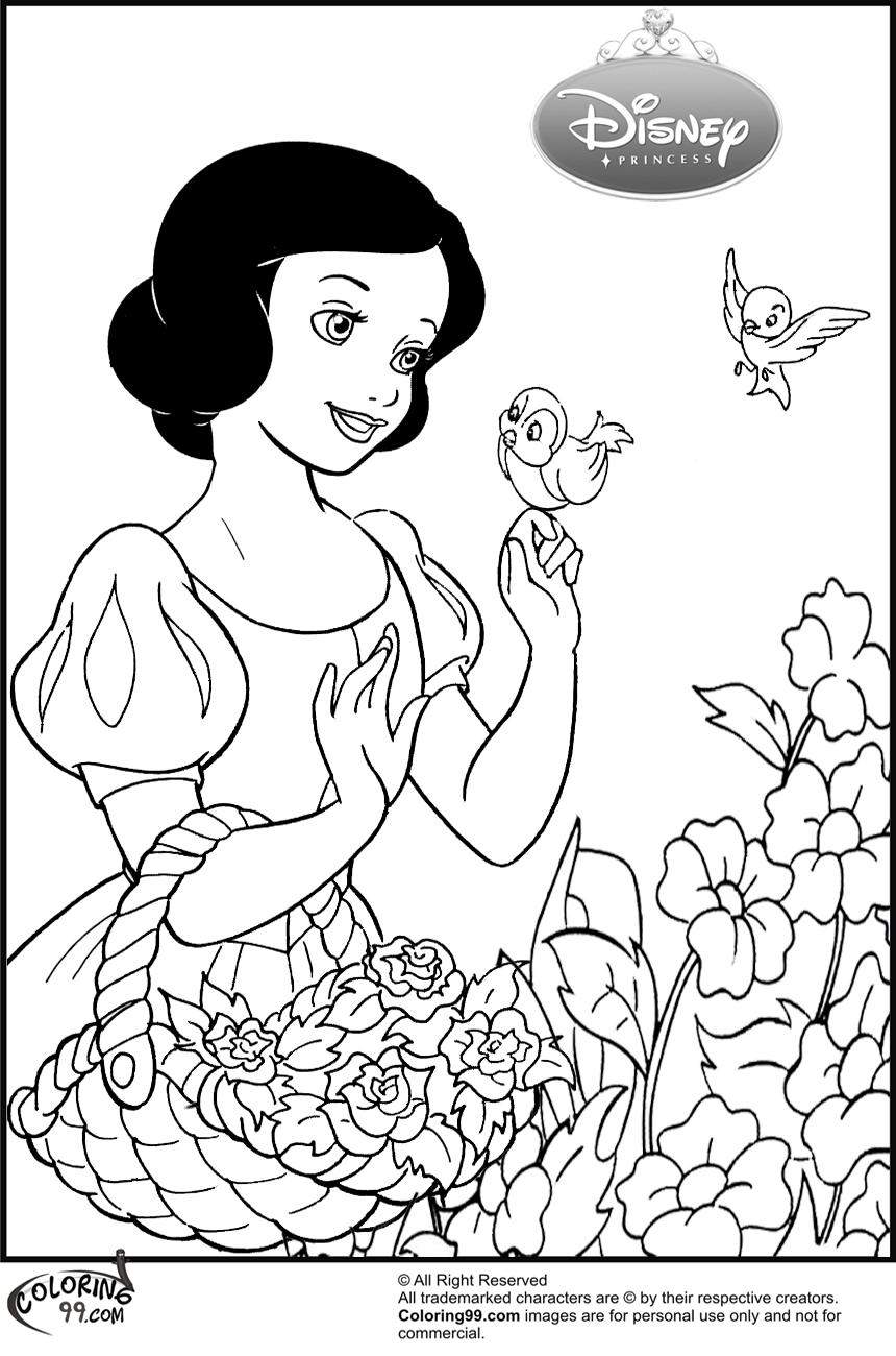 snow white coloring pages - 700×881