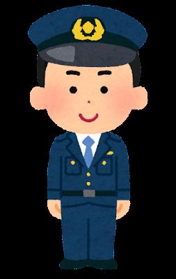 警察官の男の子のイラスト(将来の夢)
