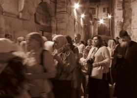 Procession in the city of Jerusalem.