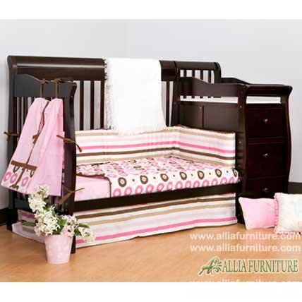tempat tidur balita kayu jati lion