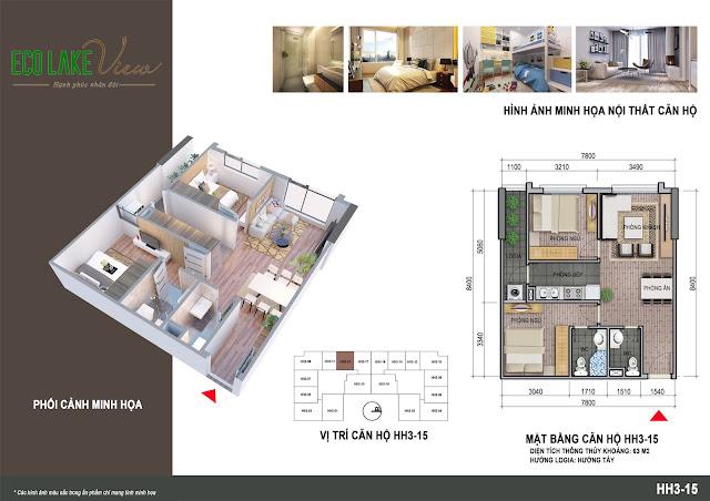 Thiết kế căn hộ số 15 tòa HH03