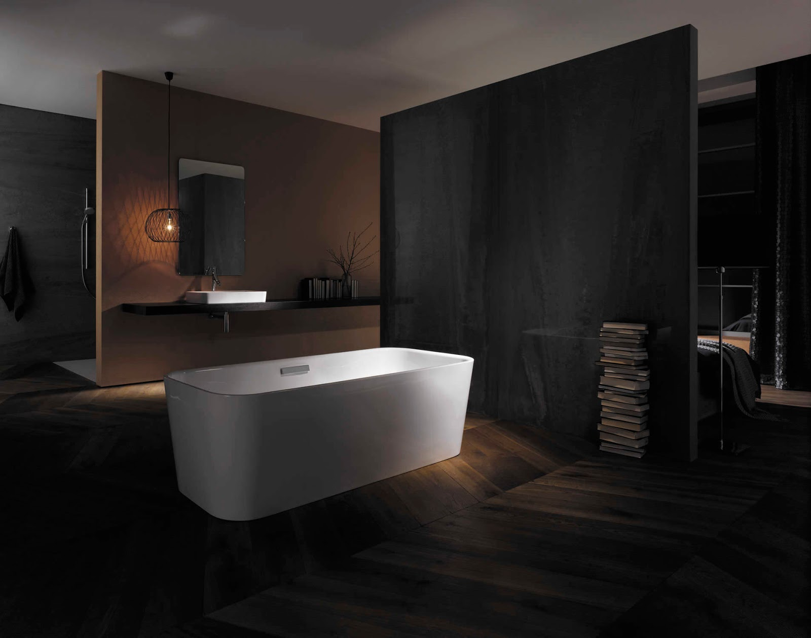 minimalist modern black bathroom design ideas art home design ideas. Black Bedroom Furniture Sets. Home Design Ideas
