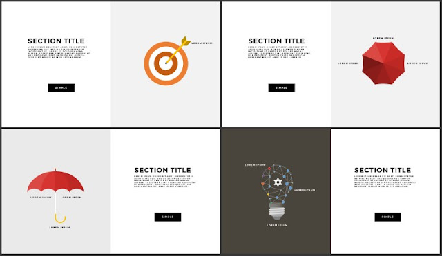 Free Infographic Section Titles PowerPoint Template Slide 17-20