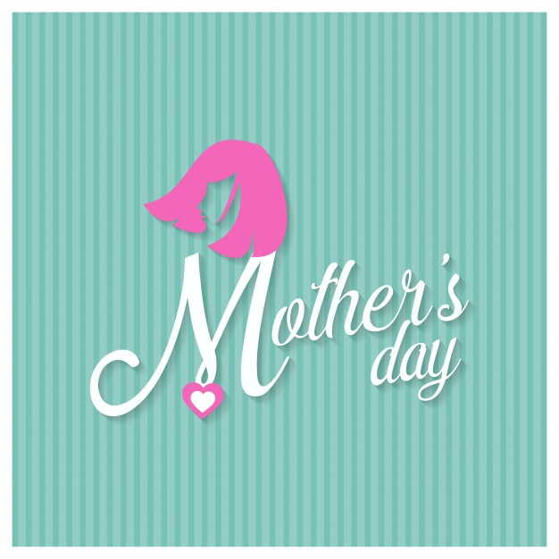 Mothers day lettering on green background Free Vector