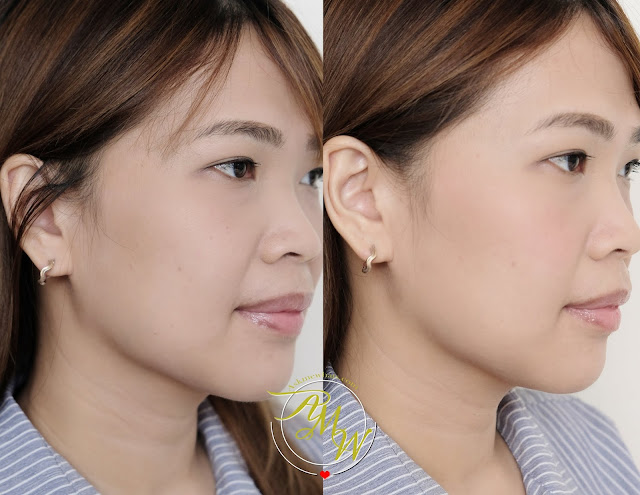 before and after photo of Generation Happy Skin Instant Glow Longwear Powder Blush