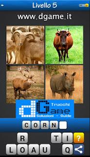 Trova la Parola - Foto Quiz con 4 Immagini e 1 Parola pacchetto 1 soluzione livello 5