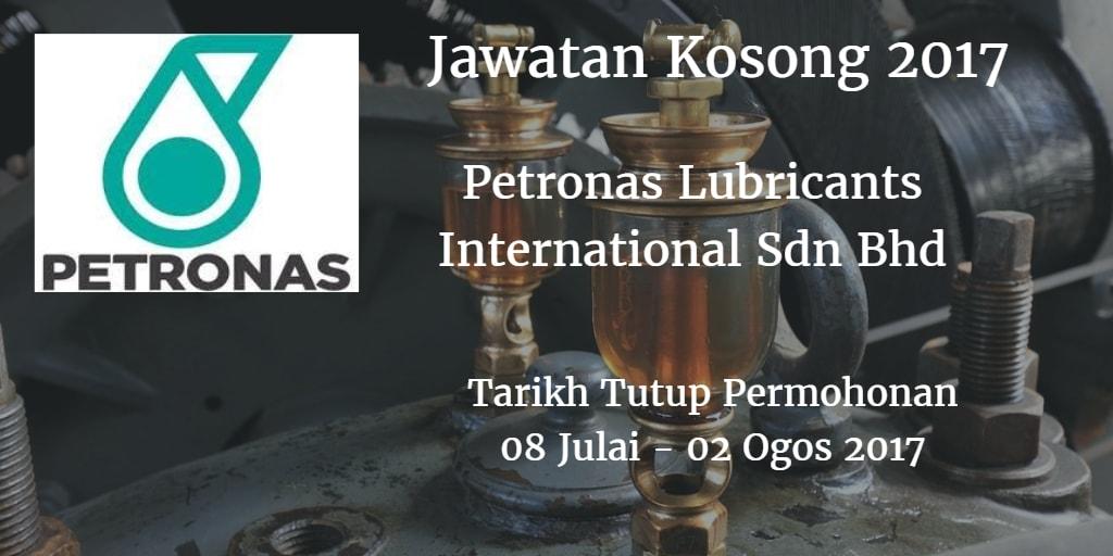 Jawatan Kosong Petronas Lubricants International Sdn Bhd 08 Julai - 02 Ogos 2017